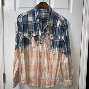 Bleached Plaid Flannel